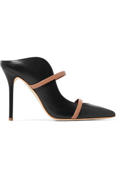MALONE SOULIERS mules leather black shoes