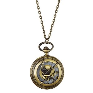 Amazon.com: Mockingjay Antique Brass Steampunk Pocket Watch Pendant Necklace: Jewelry