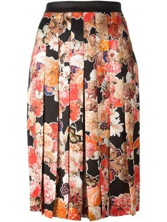 skirt pleated skirt pleated floral