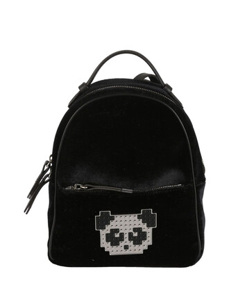 metal baby panda backpack black bag