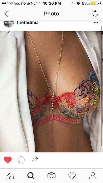 underwear bra floral pattern floral bra colorful flowers colorful lace floral bra