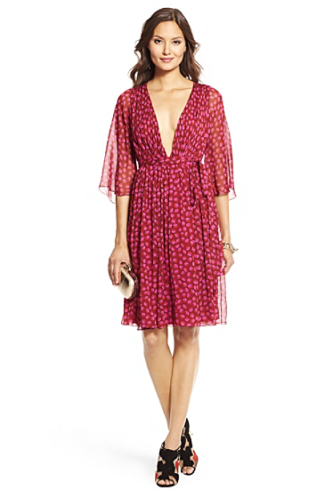 DVF Alicia Printed Chiffon Dress