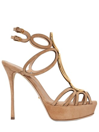 sandals suede beige shoes