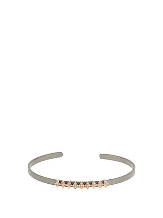 cuff rose gold grey jewels