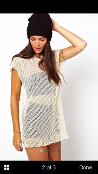 T Shirt Mesh Oversized Tshirt Dress Asos Wheretoget