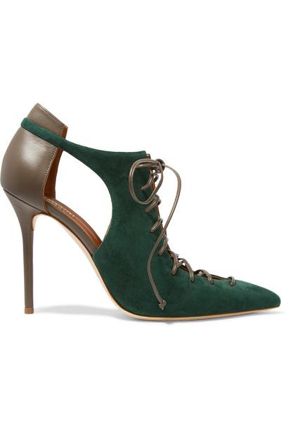 pumps leather suede shoes