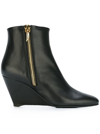 heel booties black shoes