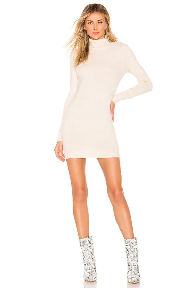 About Us Nadia Turtle Neck Dress in cream