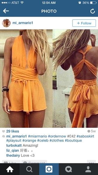 romper orange dress style