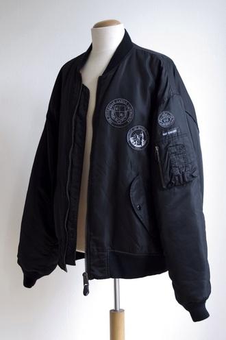 jacket coat black jacket bomber jacket black bomber streetwear streetstyle stamps black