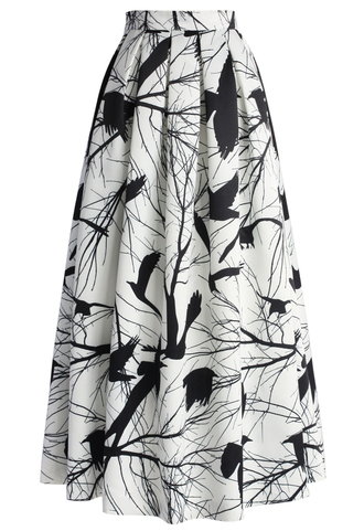 skirt chicwish branch out pleated maxi skirt maxi skirt pleated skirt printed skirt style fashion chicwish.com