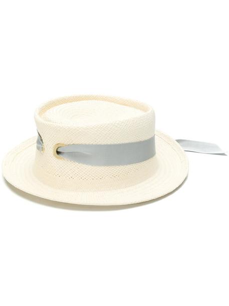 FEDERICA MORETTI women hat nude cotton