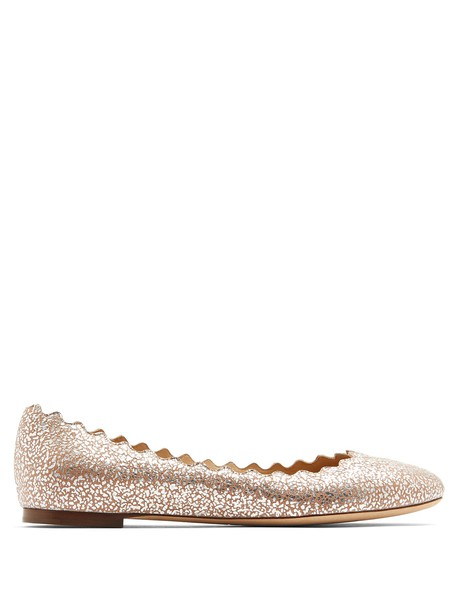 Chloe flats leather flats leather silver shoes