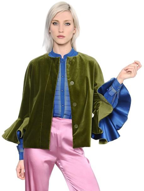 CAPUCCI jacket velvet green