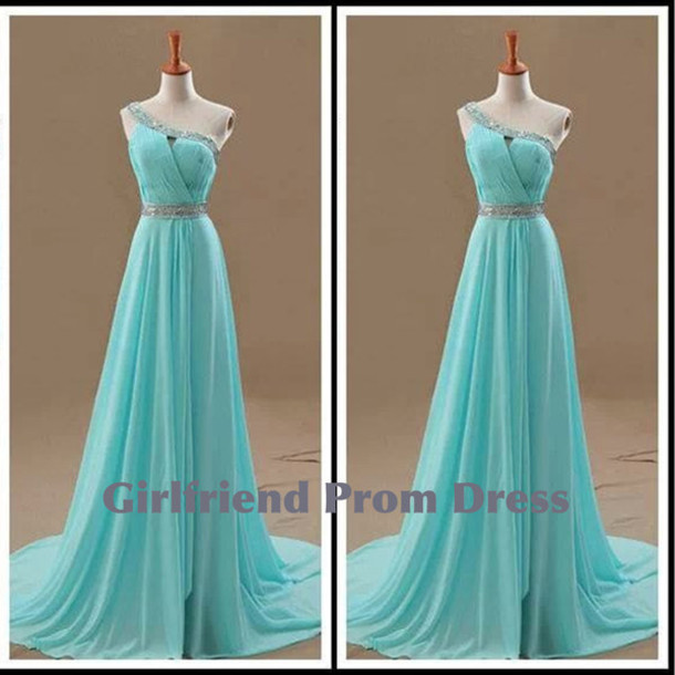 Dress: blue, vintage, prom, prom dress, bridesmaid, long prom ...