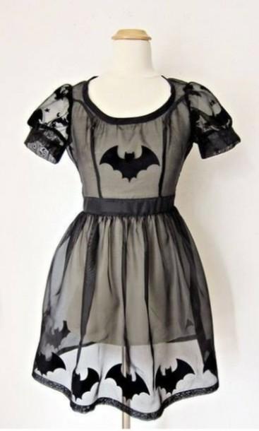 dress black dress bats