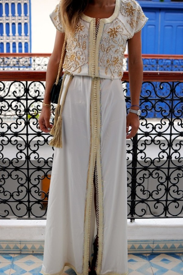 dress white kimono white dress maxi dress beaded caftan dress white maxi wedding