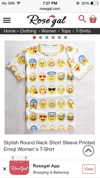 emoji print t-shirt printed t-shirt funny