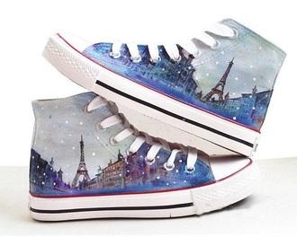 shoes paris art france converse