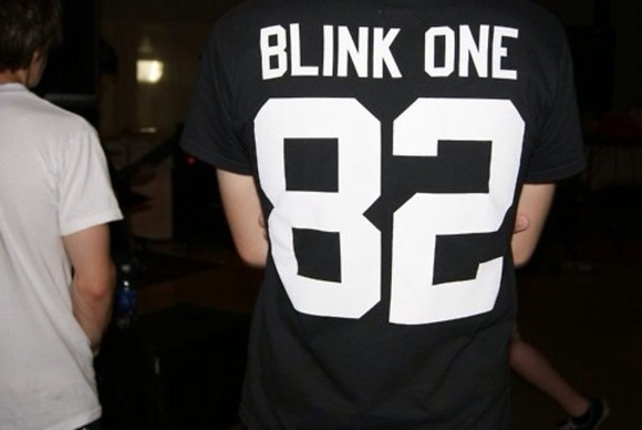 black white jersey tumblr blink 182 blink-182 82 jersey shirt t-shirt