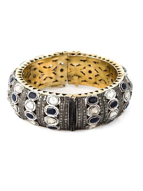 women embellished gold grey metallic jewels