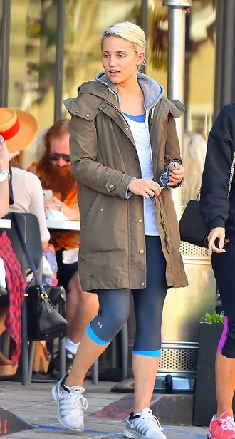 jacket dianna agron leggings