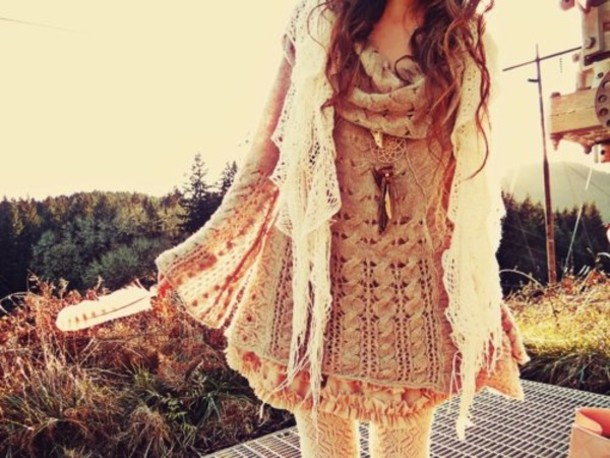 dress vintage dress sweater scarf lace scarf vintage