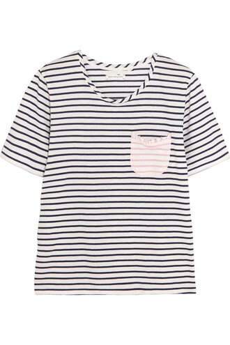 t-shirt shirt cotton blue top