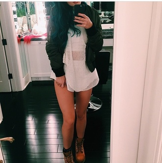 two-piece fishnet