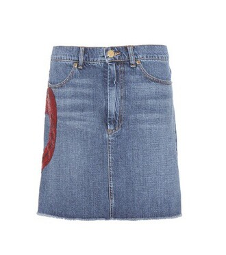 skirt denim skirt denim embellished embellished denim blue