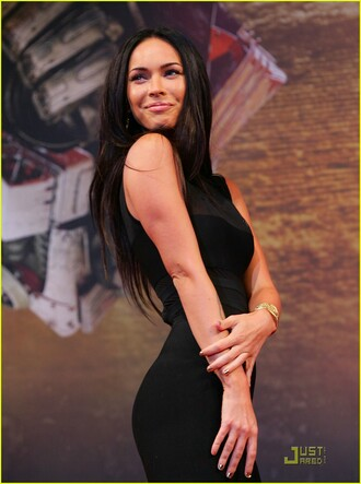 dress cute megan fox straight hair girl lovely party dress black dress little black dress black cute dress sexy party dresses