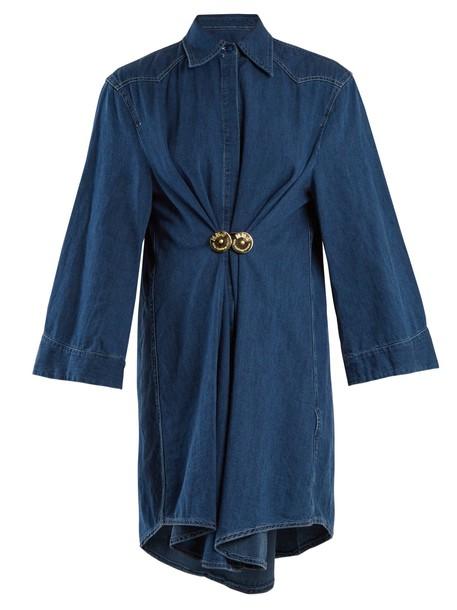 Mm6 Maison Margiela shirtdress denim cotton blue dress