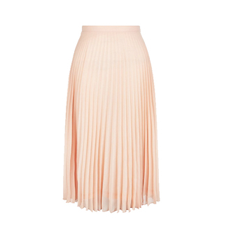 skirt pink skirt pleated skirt pastel skirt midi skirt