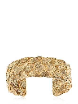 cuff braided cuff bracelet gold jewels