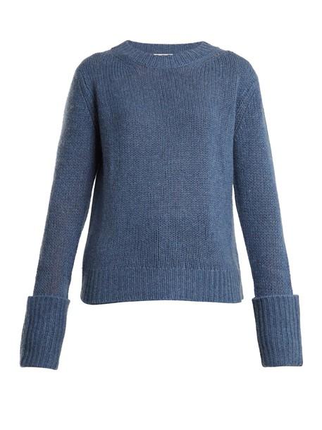 The Row sweater light blue light blue