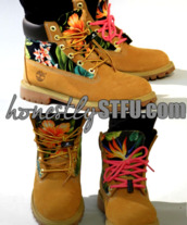 shoes,floral,timberlands,new,hot,drawstring,colorful