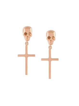 skull cross earrings metallic jewels
