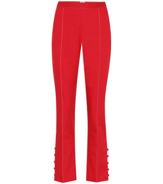 Rosie Assoulin Oboe cropped cotton trousers in red