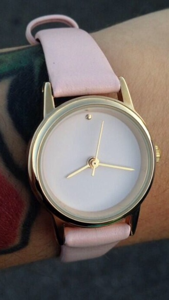 jewels watch watch gold baby pink