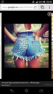 shorts,shorts levi levis tack tachuelas demin blue high wasted