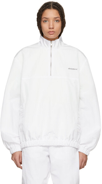 jacket zip white