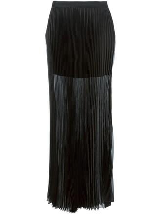 skirt long skirt pleated long black