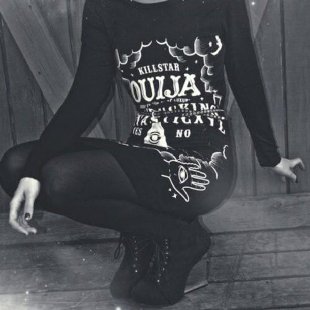 dress goth black dress ouija