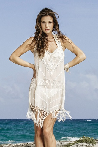dress boho dress maxi dress open back dresses gold cover up beach beach dress fringes boho boho chic