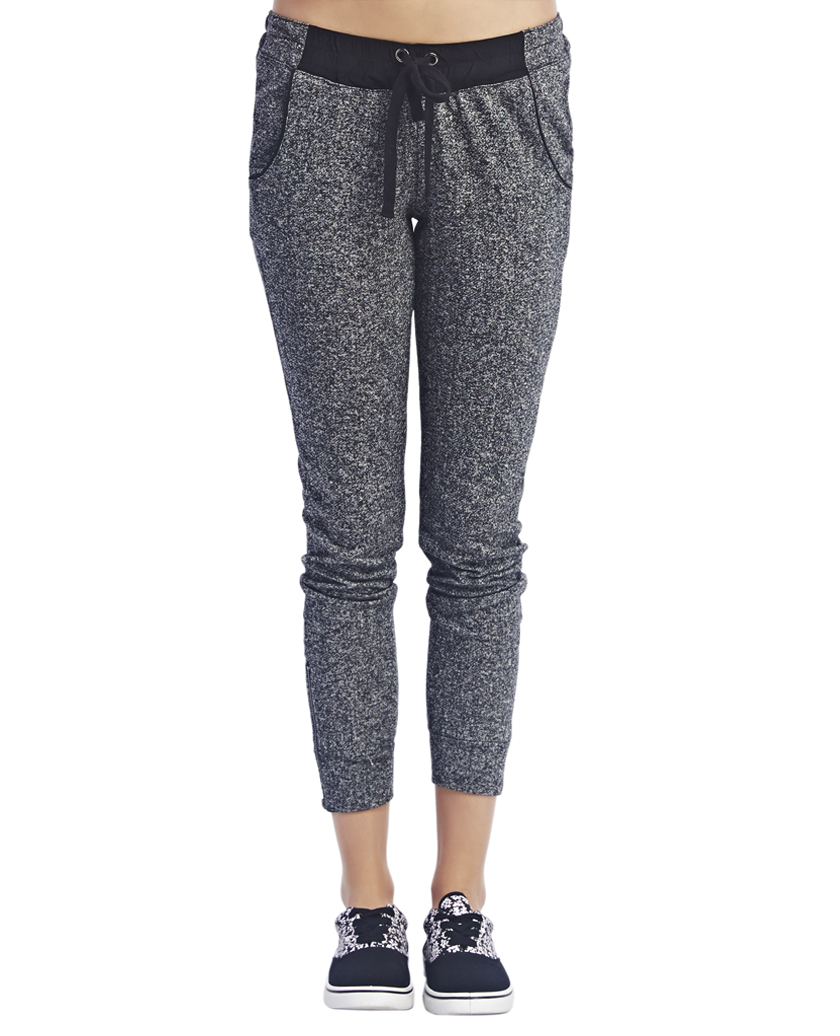 Marled Ankle Zip Sweatpants | Wet Seal