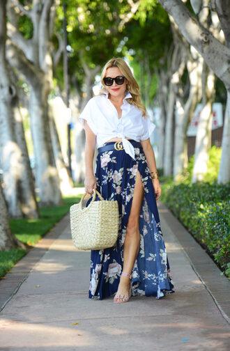 thehuntercollector blogger shirt skirt belt bag shoes jewels