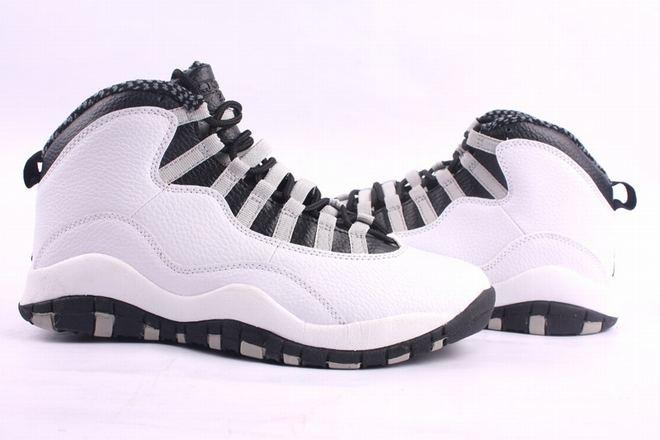 Mens Air Jordan 10 Shoes: White & Black - $ 92.89 price sale