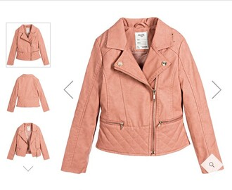 coat helena fashion perfecto leather jacket pink jacket