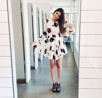 dress floral bethany mota mabarbie07 floral dress fashion