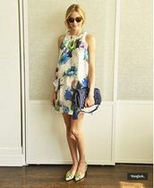 dress,olivia palermo,shoes